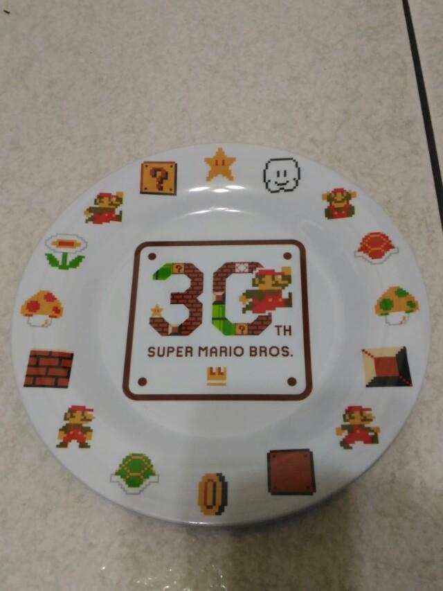 Nintendo 超級瑪利歐 MARIO 30週年 紀念餐盤