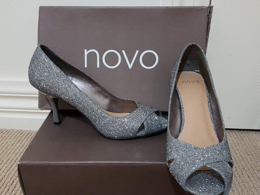 Novo silver shoes brand new