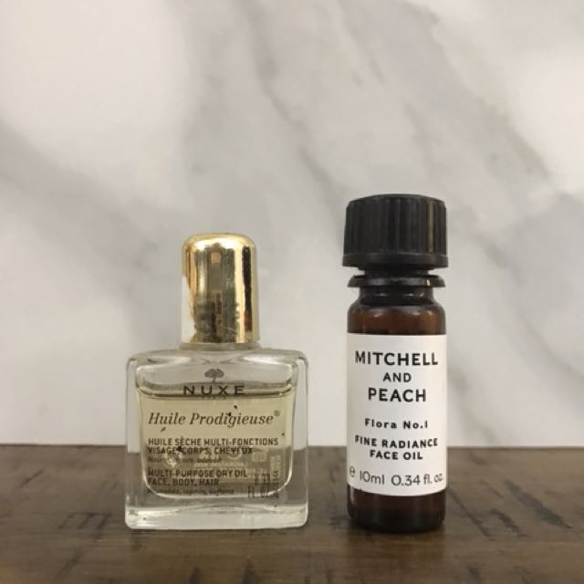 NUXE/Mitchell & Peach face oils