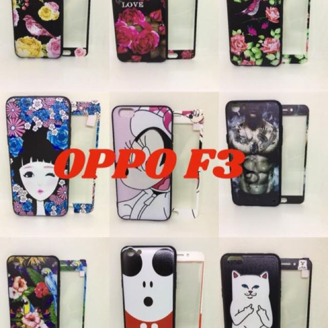 oppo f3 case + tempered