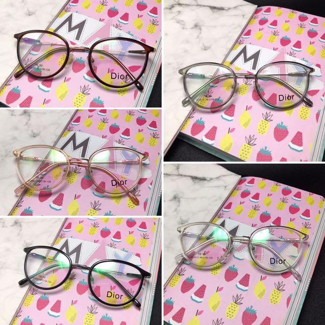Paket lensa minus Frame Kacamata Fashion DIOR 212613