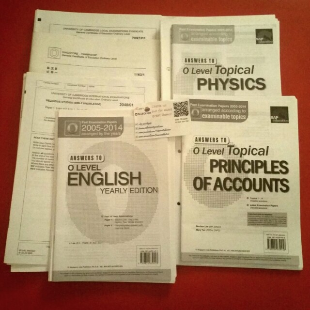 Past Year GCSE O Level Exam Papers Books Stationery