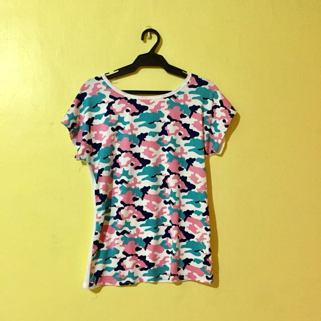 Pink Camouflage Top