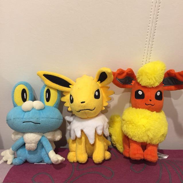 Pokémon plushies