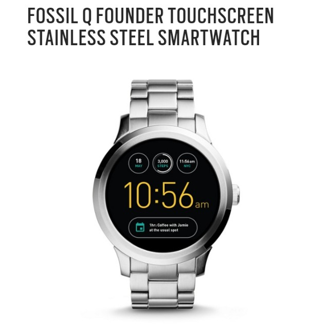 [PRE ORDER CLOSED] Fossil Unisex Q Wander Touchscreen Smartwatch FTW20003