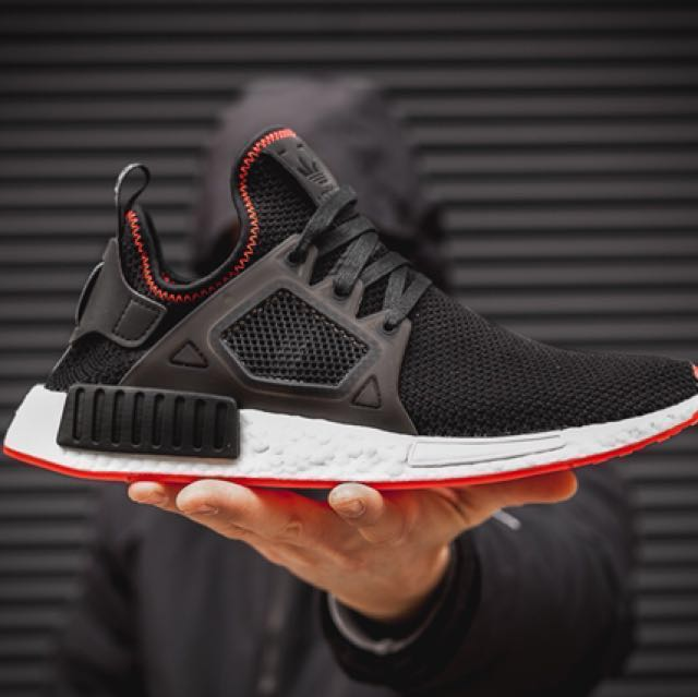 finest selection a04b6 297b6 Price revised! BNIB Adidas NMD XR1 Black and Solar Red