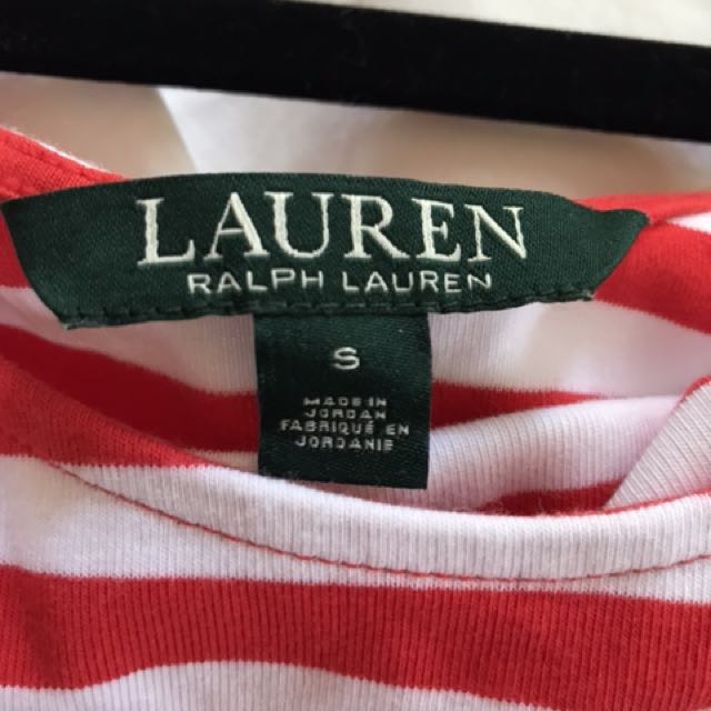 Red white striped top