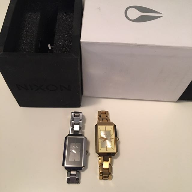 REDUCED | Set Of 2 Modern Nixon Watches - gold and silver
