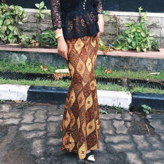 rok mermaid batik