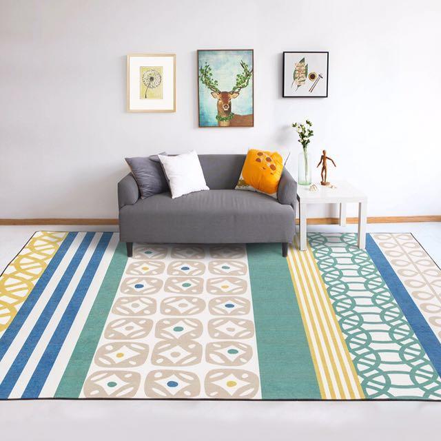 Scandinavian Carpet Colourful