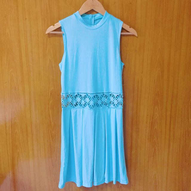 SKY BLUE SLEEVELESS DRESS