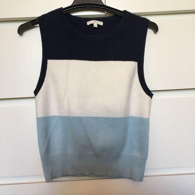 Sleeveless vest style top