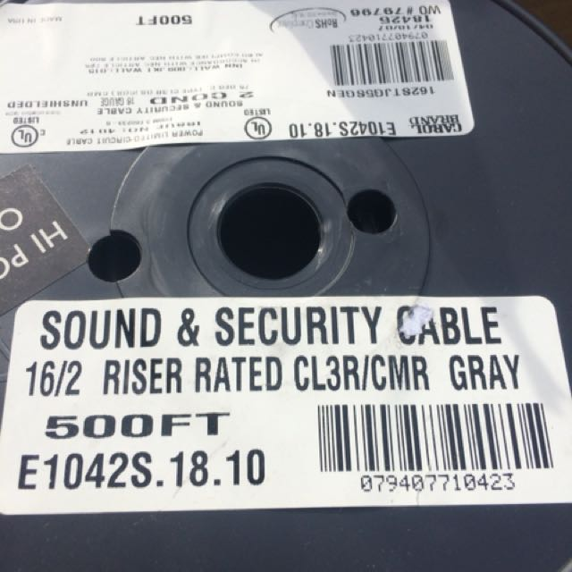 Sound and security wire
