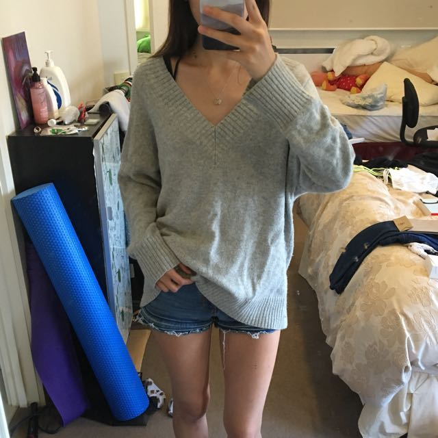 Sportsgirl Oversized Grey Knit