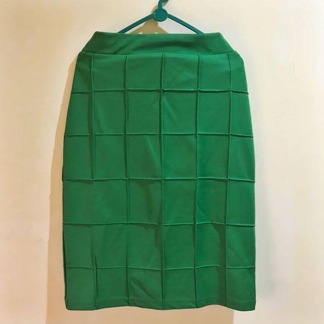 Square skirt Green