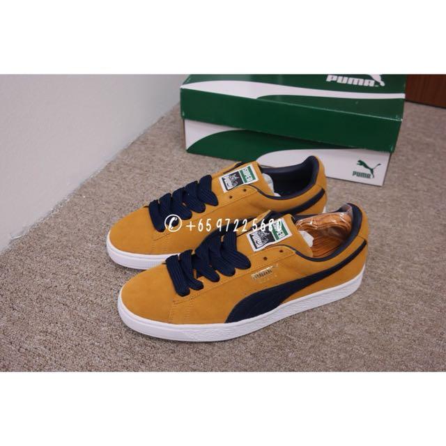 405a769c540cfa Scarpe da Uomo Puma Suede Super Sneakers Basse Peacoat Inca Gold ...,puma  suede inca