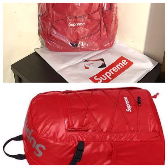 Supreme FW 2017 Back Pack Red