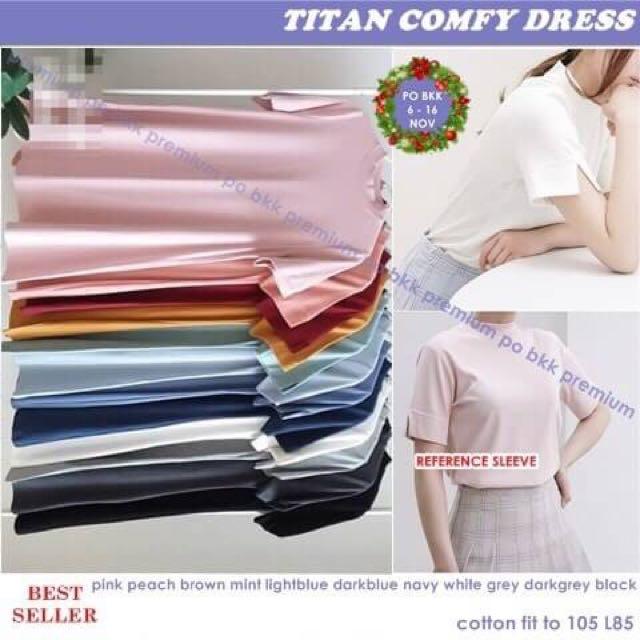 Titan comfy dress pinknude