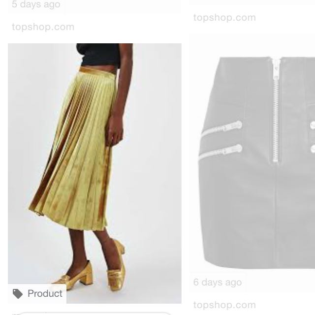 TopShop Gold Skirt