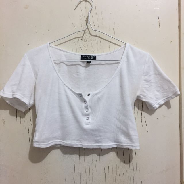 Topshop White Crop Size 6 XS