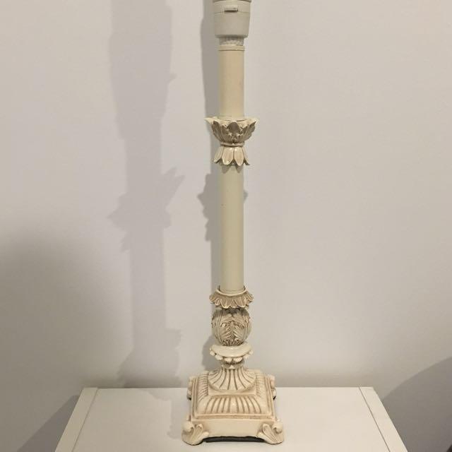 Vintage Creme Lamp Stands (x2)
