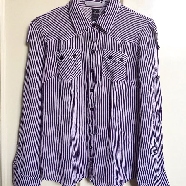 Violet stripes polo