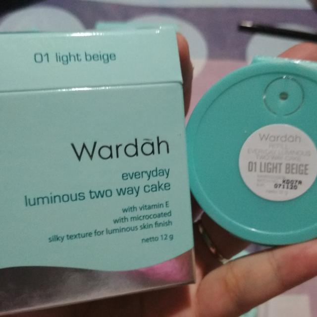 Wardah Everyday Luminous Two Way Cake 02 Beige Raisya Harga Source Halal Cosmetics Singapore Wardah Everyday