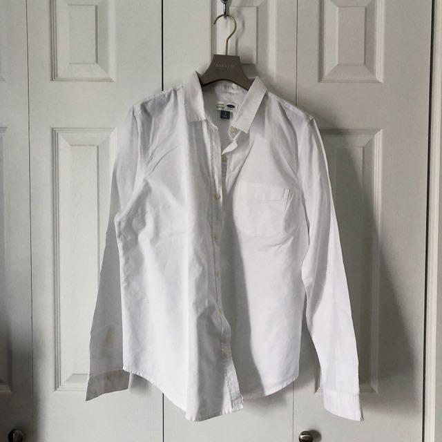 WHITE CLASSIC SHIRT, OLD NAVY.