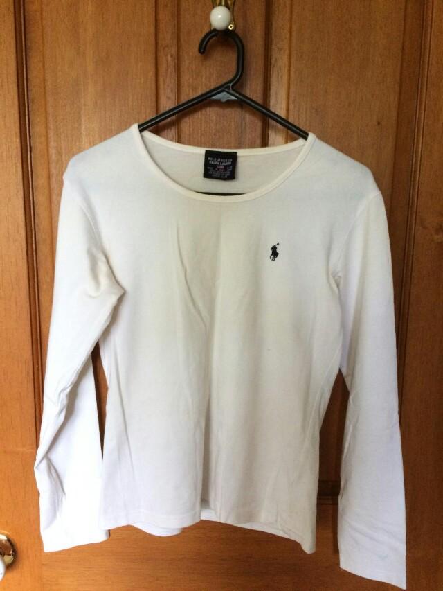 White Polo Ralph Lauren top