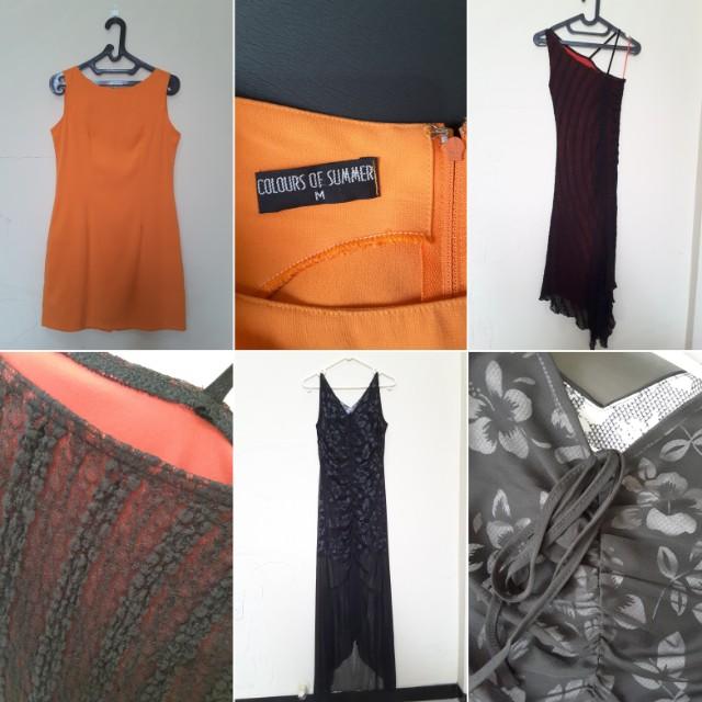 Women dress terusan wanita baju pesta midi dress maxi dress (ambil semua 3 pcs)