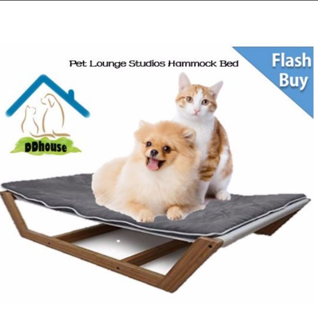 bed pet cave cozy white hammock dog