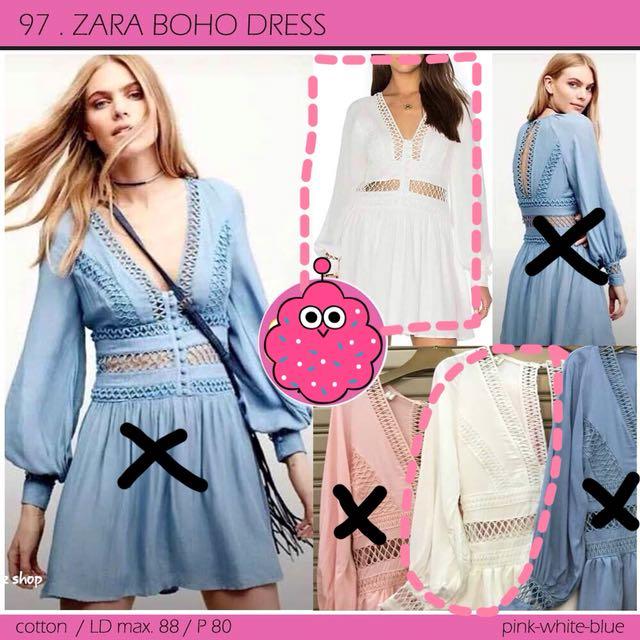 Zara boho dress WHITE