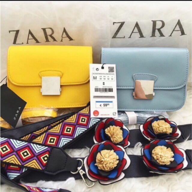 ZARA strap flower sling bag