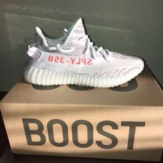 Yeezy boost 350 size 7 blue tint