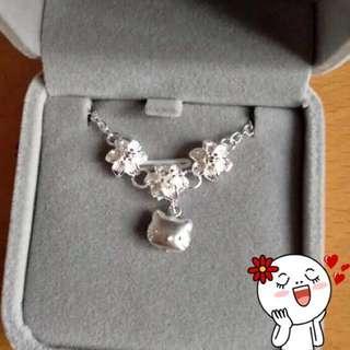 🚚 Hello Kitty925純銀花朵版手鍊