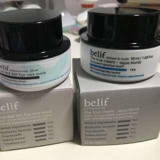 Belief aqua bomb & eye care mask