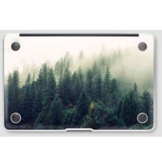 Subtle Nature with Green Trees Macbook Vinyl Decal Bottom