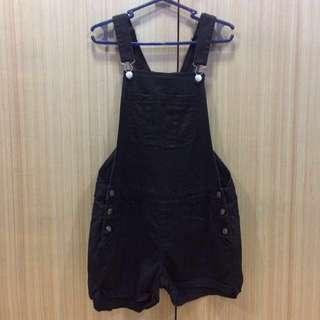 Cotton-On Black Denim Jumper Shorts