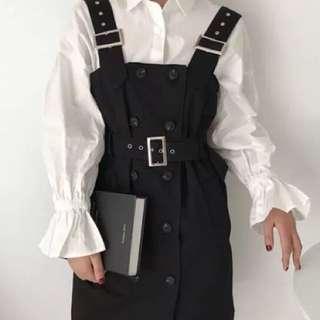 🚚 全新 韓版排釦吊帶裙