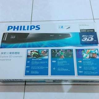 🚚 降價 飛利浦藍光3D DVD播放器