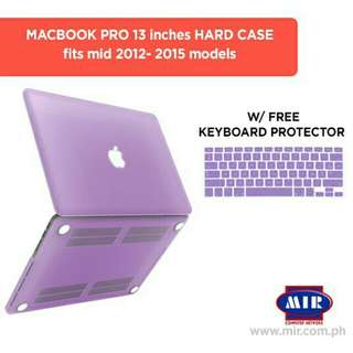 Macbook Pro 13 inches Non Retina Hard Case Purple with FREE Keyboard protector
