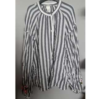 H&M stripe blouse (Selling on Behalf)