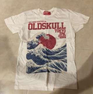 Old skull t shirt