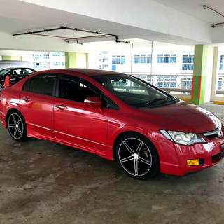 Honda Civic FD 1.8L I-VTEC Engine Auto Transmission  2008 Paddleshift Bodykit Status : 🇸🇬( S'PORE )  Excellent Condition  For Spare Parts Or Track Use.   Interested Pls Click 👇 ( CHAT )