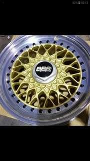 BBS RS進口鋁圈 三片式鍛造15x7J ET 25  4孔100