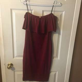 M Boutique off the shoulder dress