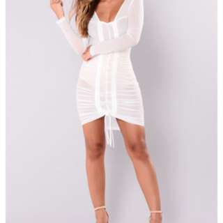 Fashion nova white dress