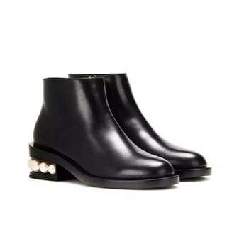 珍珠女裝靴子