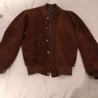 Vintage roots leather suede men's jacket