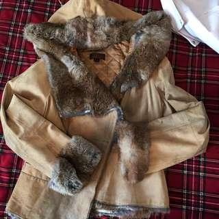 Danier rabbit fur coat
